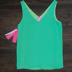 NWT Lilly Pulitzer Key Lime Green Florin Tank XS